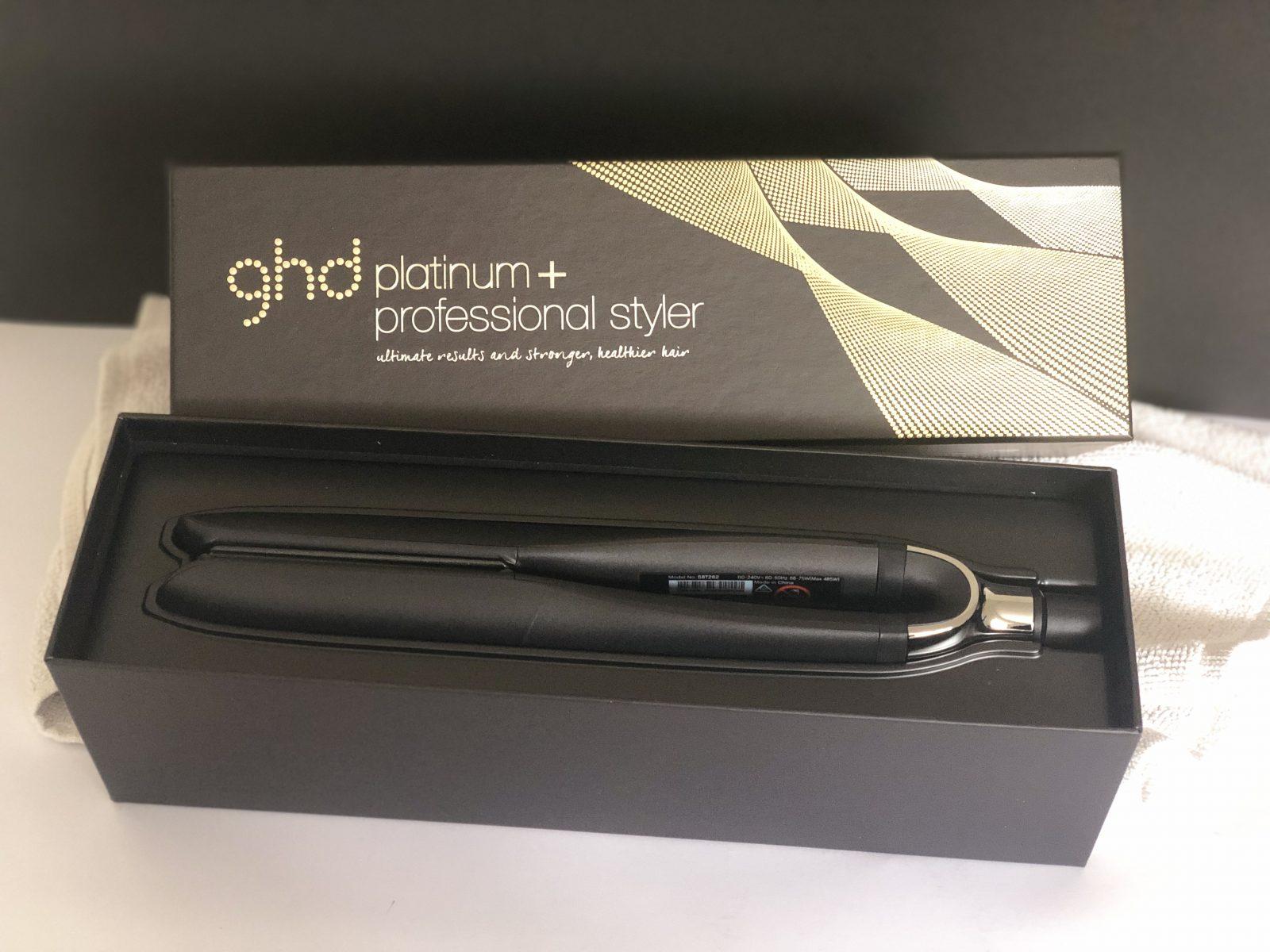 Plancha GHD Platinum + Negra y Protector de Placas