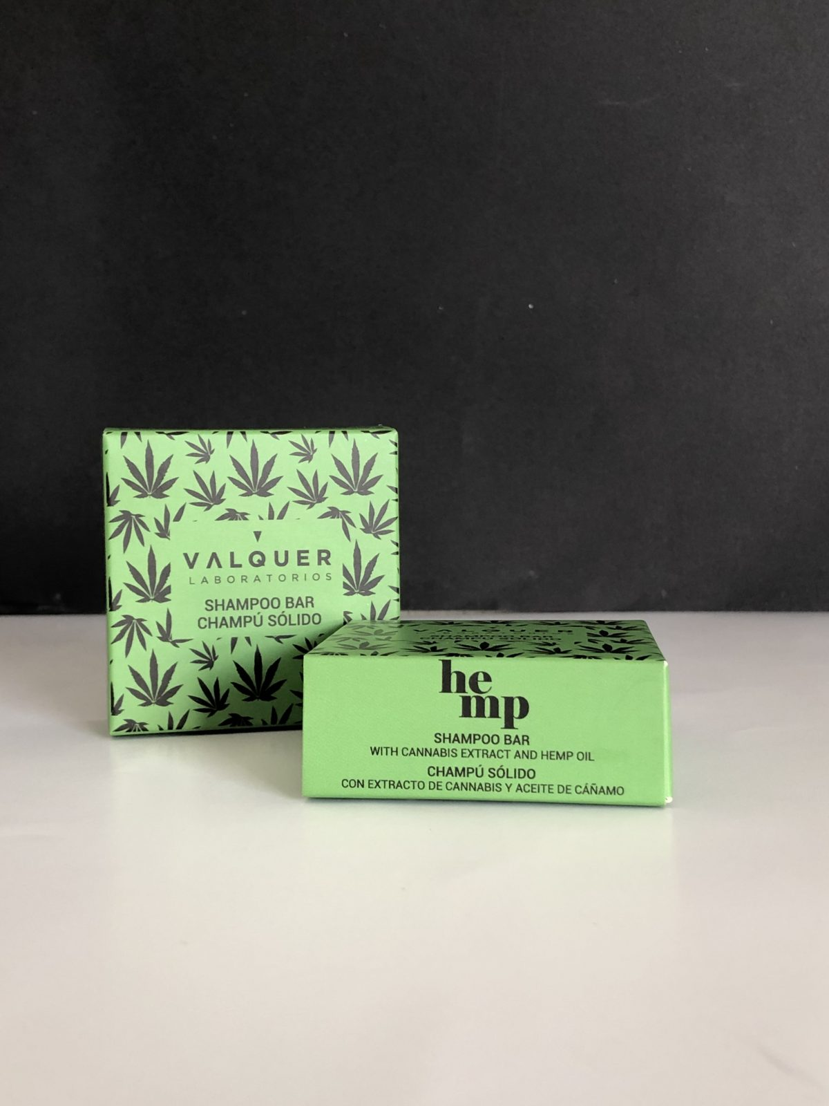 Champú sólido con extracto de cannabis y aceite de cáñamo Válquer
