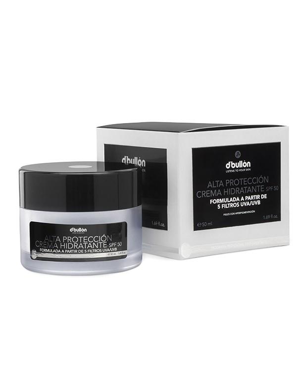 Crema Hidratante Facial Alta protección SPF 50 Bullón